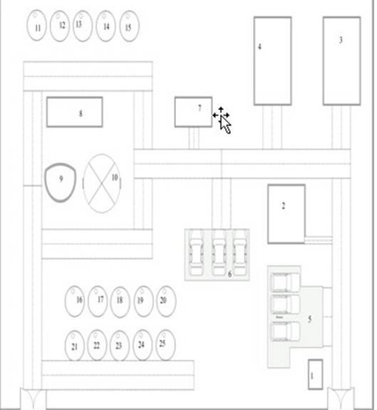 Рисунок 2 — План-схема объекта