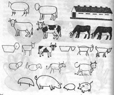 схема рисования животных